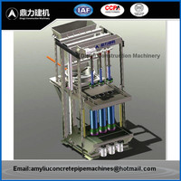 Vertical Vibration Rcc Pipe Machine / Concrete Mould Machine