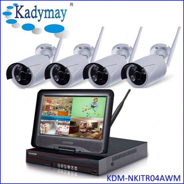 "Gold Supplier 4chs WIFI 1.0/1.3Megapixels shenzhen security system tech with 10.1"" Monitor"
