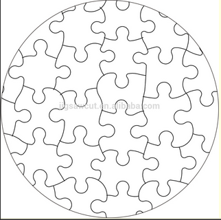 JIgsaw puzzle die cutter Oval shape-66pcs Unique design