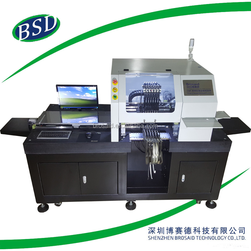 led pick and place machine, 6 heads led bulb assembly machine line BSD-30000S led light making machine,smt