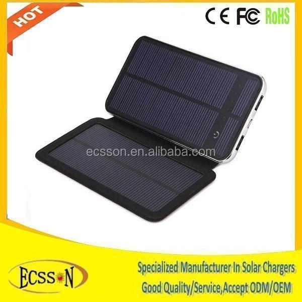 2015 new products solar power bank, 3.7v 10000mah solar battery charger for mobile phone