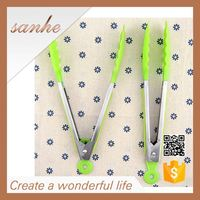 durable promotional BBQ bread silicone kitchen tongs
