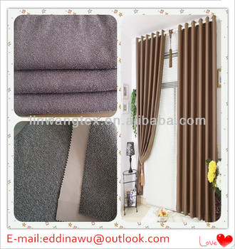 linen like polyester fabric for blackout curtain