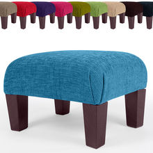 Large Pouffe Fabric Stool Black Brown New Footstool Ottoman Foot Rest Small -