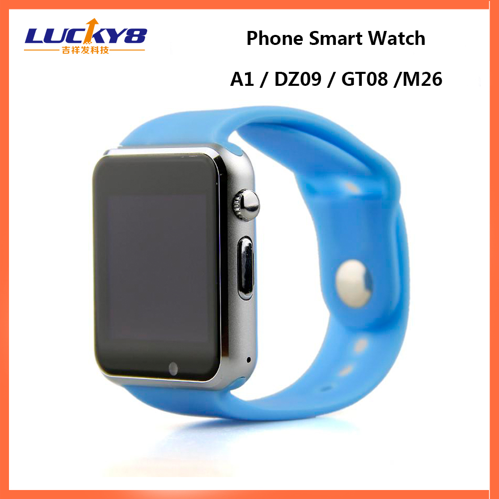 Wholesale GT08 A1 DZ09 Smart watch,MTK6261 gsm wrist smart watch phone,Bluetooth smart watch dz09 sim card smart watch phone