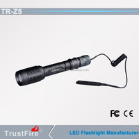 TrustFire Z5 led zoomable flashlight cotrol switch for hunting electric switch for flashlight