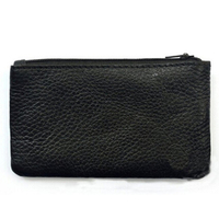 Black Zipper Cute Handmade Coin Purse