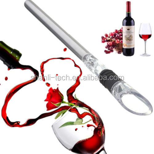 Stainless Steel Red Wine Chiller Chilling Rod Stick Cooler&Pouring Spout Aerator