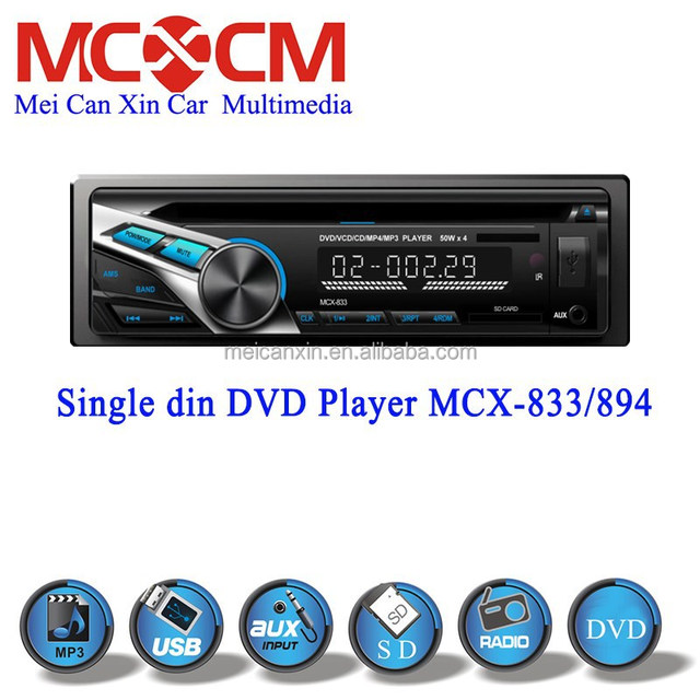 Universal one din audio car dvd player of detachable panel