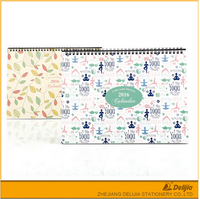 Hot selling school desk custom printed spiral bound calendar