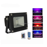 DMX 512 remote control 10w rgb led floodlight/Outdoor IP65 10w color changing led flood light 10W RGB/Motion Sensor CE/RoHS