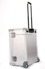 Sliver Embossing Large Aluminum Luggage Case