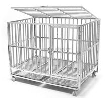 wholesale home & garden stainless steel heavy duty dog kennel / pet dog cage for sale cheap