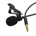 Lapel Omnidirectional Condenser Microphone Recording Clip On Mini Mic for iPhone And Android Mobile Phone,Tablet & PC