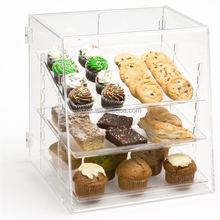3 tier clear acrylic pastry bakery cake display case /food acrylic container