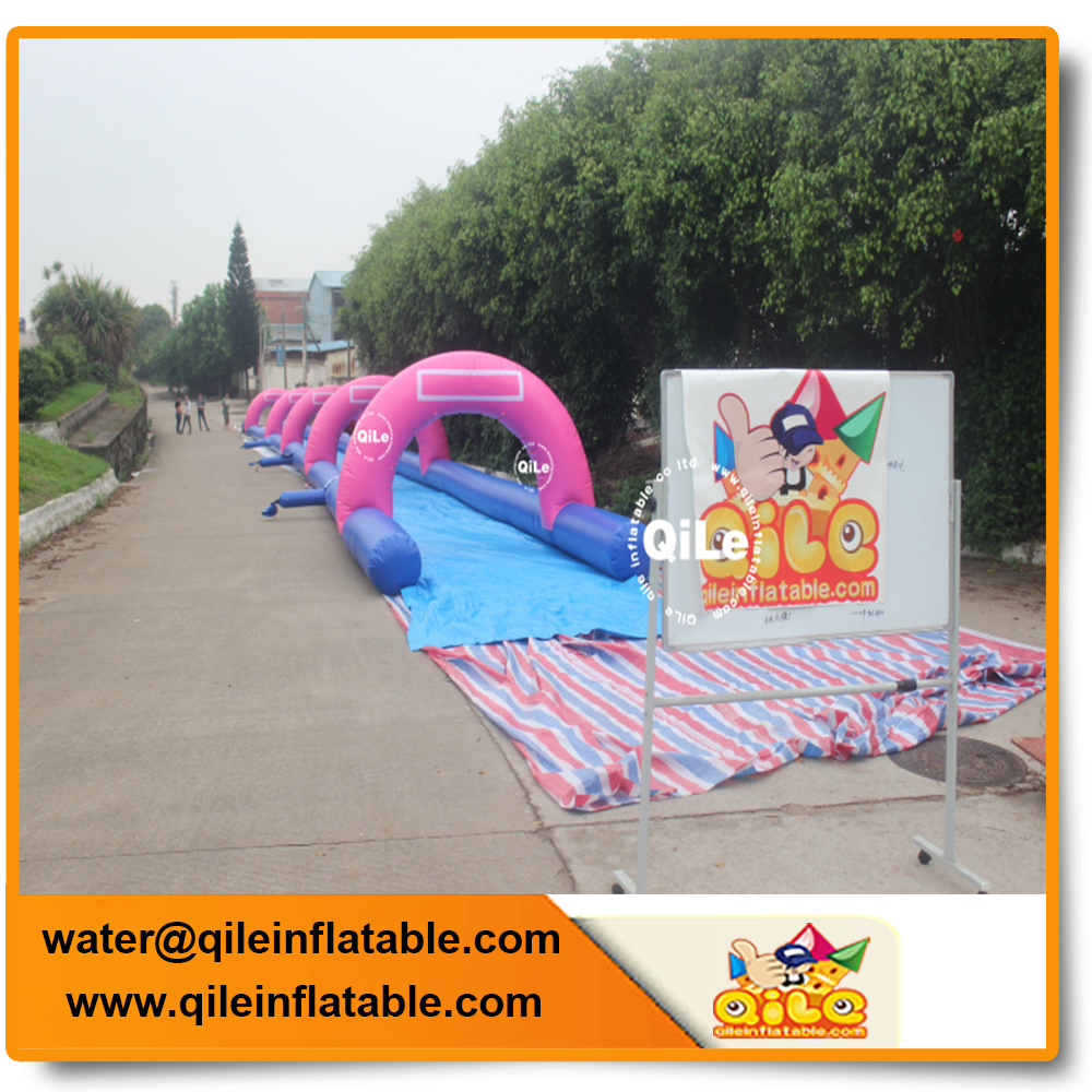 hot sale custom size inflatable long slip hill slide for outdoor hill activity camping