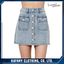 Mature Women In Short Skirts Pictures Of Fashionable Skirts Newest Women Button-Front Denim Mini Skirt