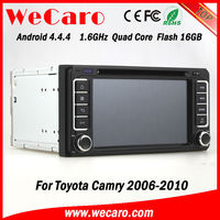 Wecaro brand 7 inch Android car dvd player with gps for toyota camry 2005 GPS navigator TV Radio tuner CD Player