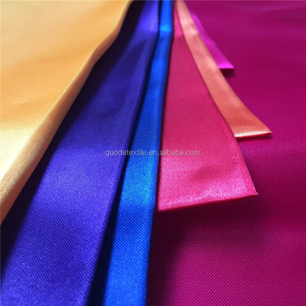 100 polyester lining fabric satin dress of silk satin fabric