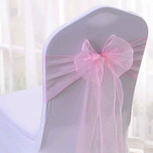Factory price 100%polyester Wedding Party Home Hotel Decoration Organza Sashes