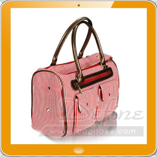 New Fashion Stripe Puppy Dog Carrier Tote Bag
