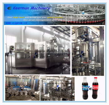The whole washing filling and capping line for bubble beverage