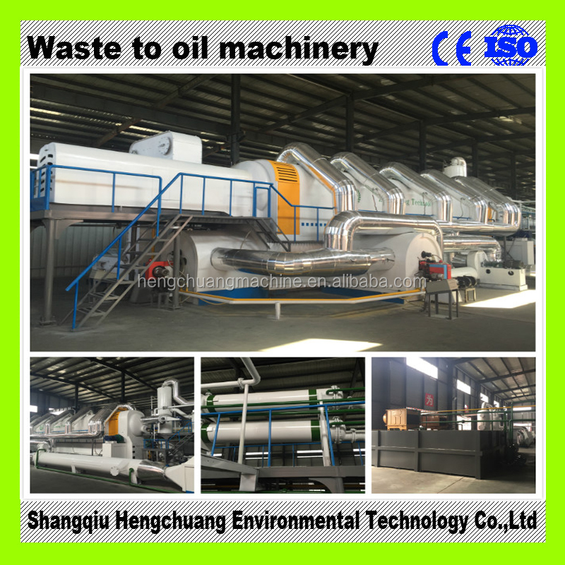 Continuous used tyre recycling plant to fuel oil 50% high oil yield no pollution