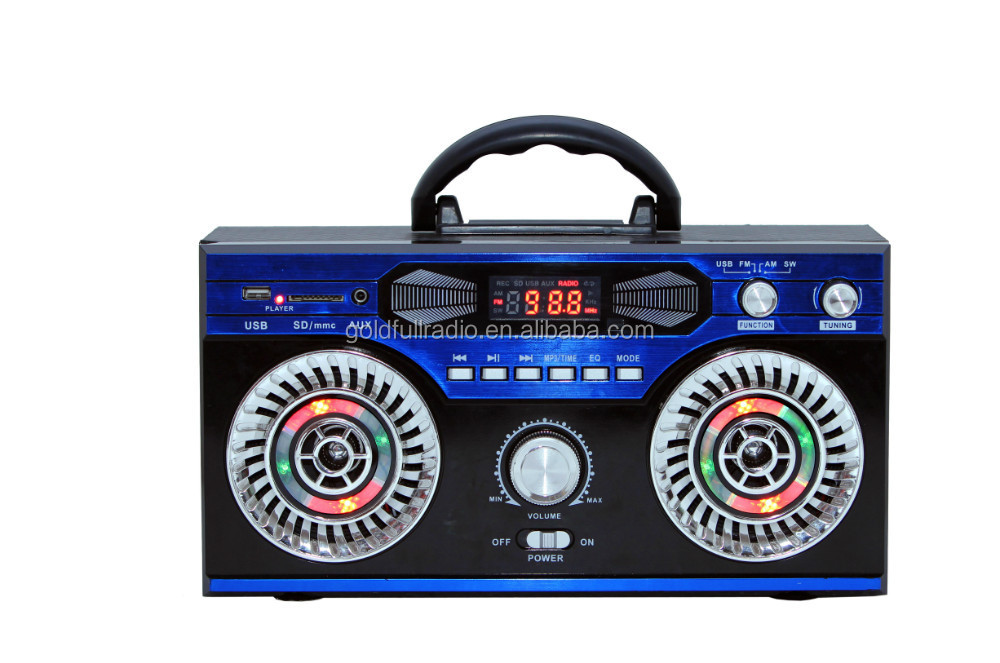 China Time Function High Quality Karaoke Display Portable Yes Screen Digital Radio