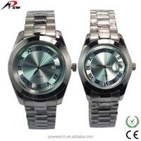 Alibaba China supplier steel watches for couple japan movt quartz watch stainless steel back