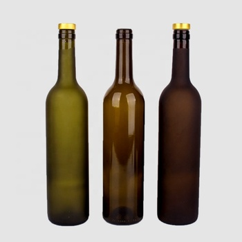 750ml round colored red glass wine bottle beer glass bottle