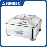SUNNEX 2016 New Stylish 304 Stainless Steel Cover 5.5 Litre Electric Chafer