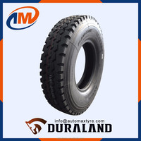 DURALAND BRAND TRUCK TYRE FROM CHINA MANUFACTURER ALL STEEL RADIAL 12.00R20 HIGH QUALITY FOR SALE