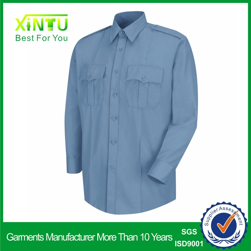 Custom logo wholesale cheap design long sleeve security guard uniforms shirt