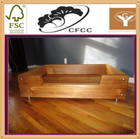 high quality wooden pet dog bed house