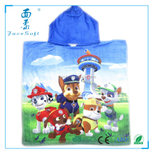 paw patrol audit towel factory Cartoon Character printed Kids Hooded Bath Beach Towel Poncho for Boys Girls