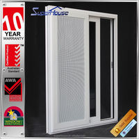 Energy saving AS2047 aluminium window shanghai with fly net