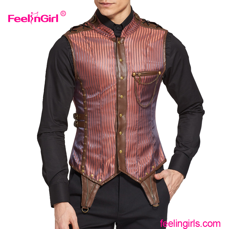 China Manufacture Good Quality Male Leather Corset