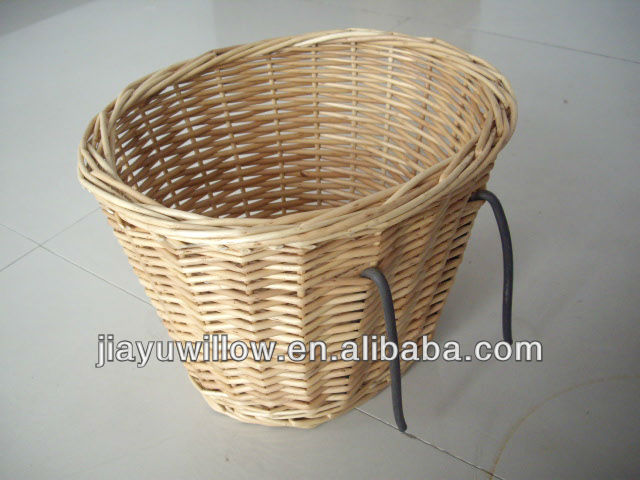 100%Handmade big wicker shopping bicycle basket wicker bike basket