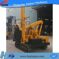 Solar system crawler drop hammer piling driver machine