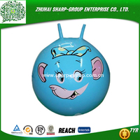 Jumping inflatable belly bump ball
