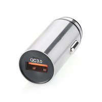 18W CE RoHS FCC Qualcomm Certified QC 2.0 QC 3.0 Quick Charging Aluminum Fast Car Charger