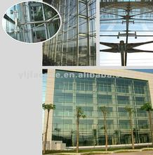 Clear glass curtain wall