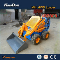 Powerful mini skid boom loader,hydraulic or electric skid steer loader