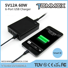Shenzhen Mobile phone accessories for fast charging - 6 Port 5V 12A USB charge device External Batteries