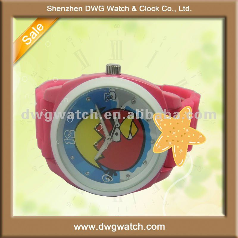 New style silicon watch with big face and width strap DWG-R0022