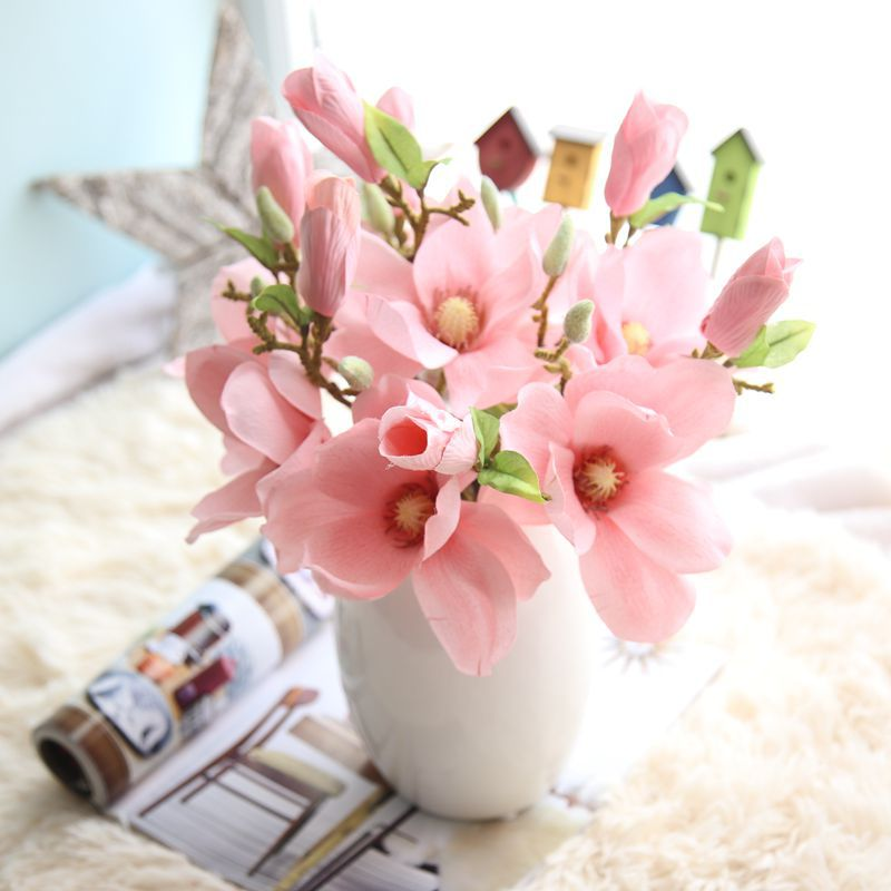 Factory supply super cheap Chinese style silk magnolia flowers