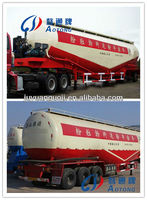 China circle low density powder material cement bulk transporter tank truck semi trailer for sale