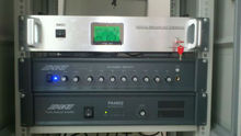 IP audio rack mounted 8 channels input unit of sound system