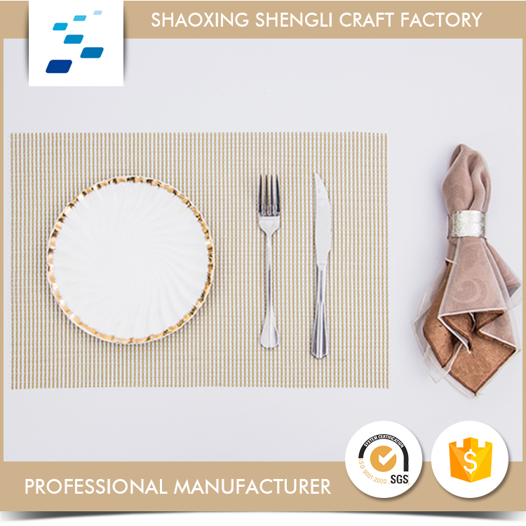 Customized Logo attractive style heat resistant custom pvc table place mat