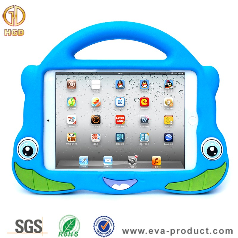 Perfect handle design stand cover case for ipad mini case for kids